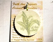 LILY of the VALLEY ORNAMENT includes free gift wrap