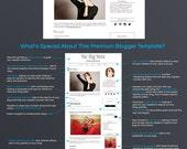 Premium Blog Design - Premade Blogger Template - Minimalist Four