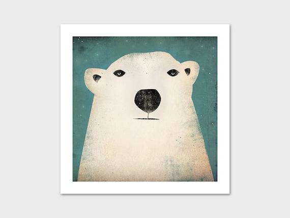 Polar Bear GRAPHIC ART Illustration print SIGNED