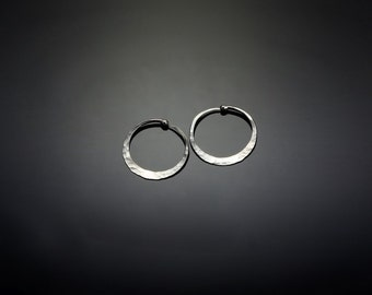 Tiny Silver Hoop Earrings  // 3/4 inch Petite Sterling Silver Hoops Earrings