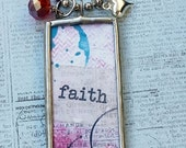 Inspirational FAITH Soldered Pendant Necklace