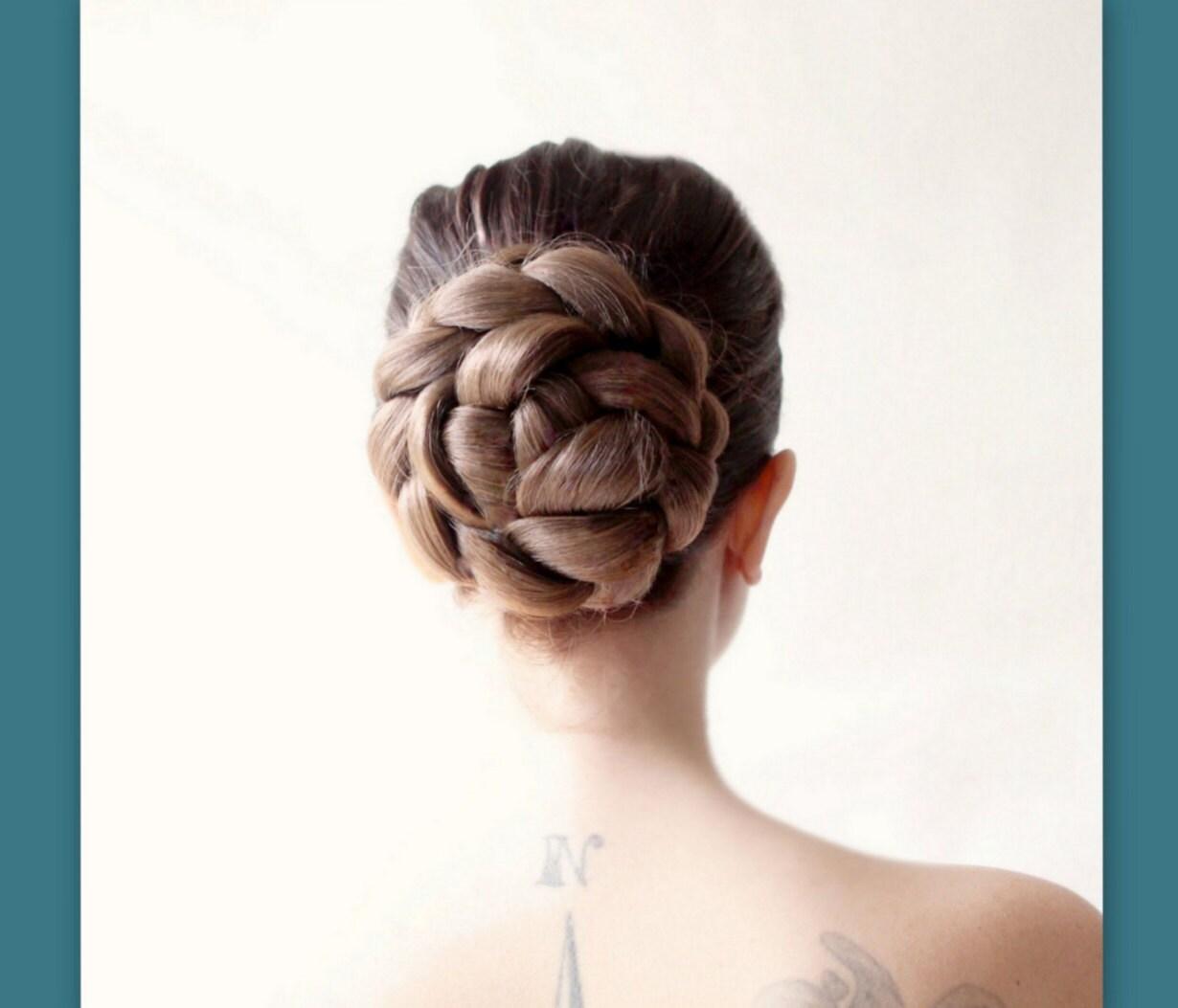 bridal hair wedding hairpiece ballet bun cover hair style