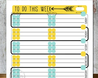 Arrow Weekly To Do List Planner Printable