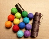 Rainbow DIY Felt Garland - colors of the rainbow garland kit - 2.5cm felt balls and 7 ft cord included DIY rainbow party fun gift