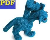 PDF Crochet Amigurumi Animal Patterns: Hydra Dragon Dino PATTERN