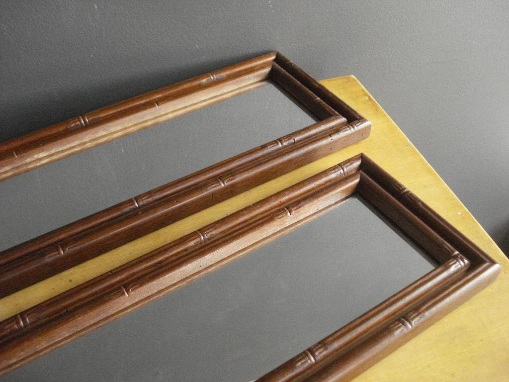 Narrow faux bamboo wall mirrors or dressertop mirrors for Narrow mirror