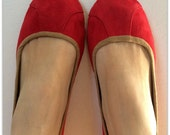 ISLANDER- Ballet Flats - Suede Shoes - 38- RED. Available in different colours & sizes