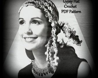 Gypsy Hat - Crochet Pattern - PDF 01035841