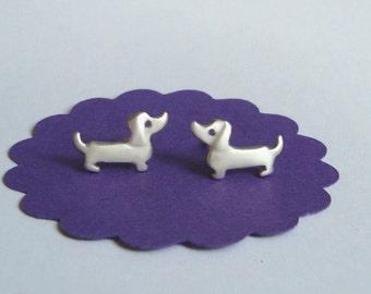 Dachshund Earrings Dachshund Studs Sterling silver Wiener Dog Earrings Kids Earrings Pet earrings Dog Earrings Dog Jewelry