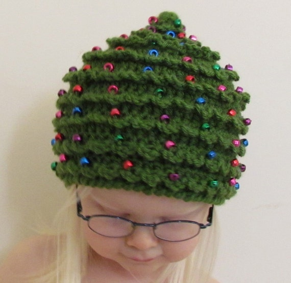 Christmas crochet pattern hat christmas tree in 5 sizes 0 to 5 plus