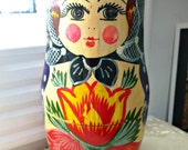 Vintage Russian Nesting Dolls Two Pieces Art Or Repurposing Supplies