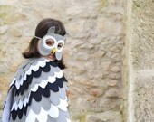 Kids Owl Costume, Childrens Mask and Wing Cape, Dress up Toy, Owl Disguise,  Girls and Boys, Toddlers