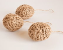 Jute Wrapped Eggs, Easter Eggs, Easter Decor, Jute Wrapped, Rustic Easter Decor, Rustic Easter