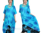 SUNHEART Hi-Low Asym HERA Tunic Top or Dress Festival Resort Boho Hippie Chic one-size  fits Sml-Med-Large-xl-1x-2x-3x