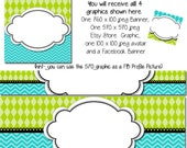 DIY Blank Etsy Banner and Facebook Set - Lifes a Beach - Customize for your Store