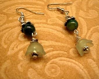 Irish Rainbow Shamrock Swavrovski Crystals Leprechaun Green  Flower Earrings