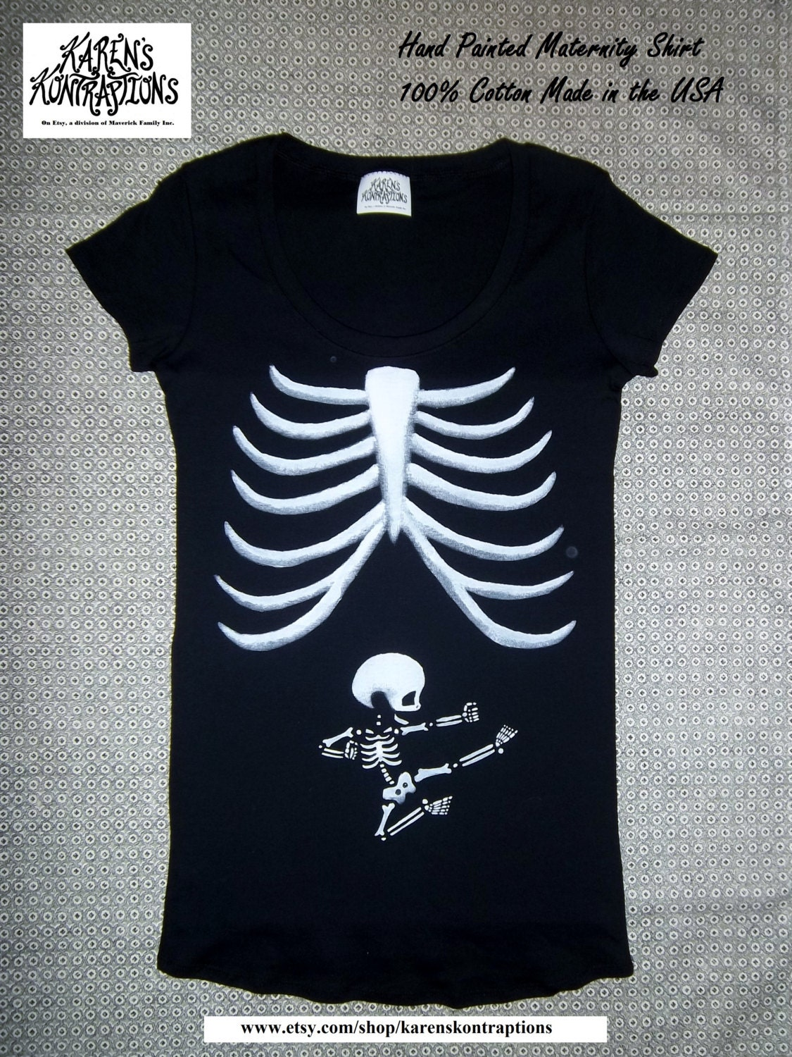 What better way to celebrate your pregnancy than with high quality Skeleton Maternity T-Shirts. There are so many ways to do it. If you're feeling pretty and preppy we've got something just for you.