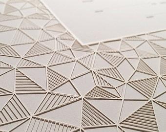 Ketubah Papercut by Jennifer Raichman - Geometric