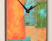10 x 16 Copper and Metal Clock