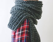FreeShipping-extra large scarf-chunky knit /The North Country/ warm-fashion-accessories-women-men-teens-handmade-gift-made in america