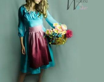 Ella dress - Ella Cinderella Servant Girl Dress, Cinderella Peasant costume for Girls, 2015 Cinderella movie Dress