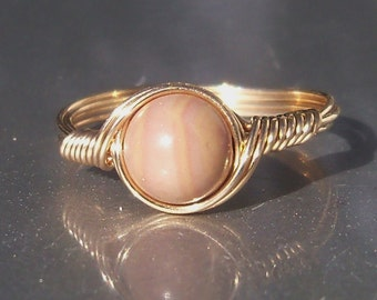 Hickoryite 14k Gold Filled Wire Wrapped Ring Custom Sized