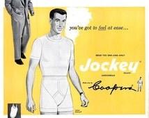 1952 Jockey Mens Underwear Advertisement Print Poster Wall Hanging Art Home Decor Mens Designer Dressing