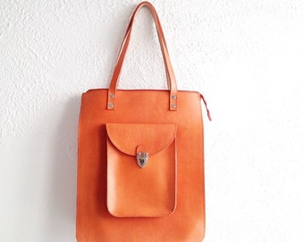 Pamela Oversized Cowhide Leather Tote bag (handmade to order)