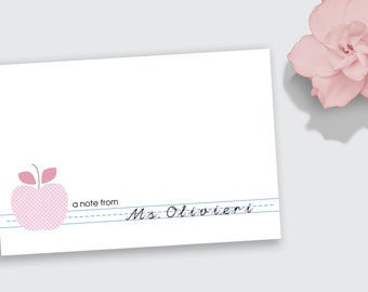 PRINTABLE Teacher Folded Notecard / Stationery