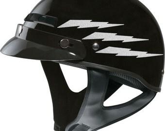 Flames Reflective Decal Set Flame Helmet Stickers Fire - Helmet decals motorcycle womens