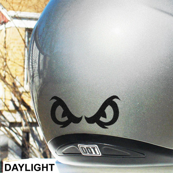 Angry Eyes Reflective Decal  Angry Eyes Helmet Sticker - Motorcycle helmet decal