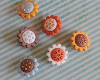 Flower Buttons Package Assortment Harvest Bloom by Dress It Up