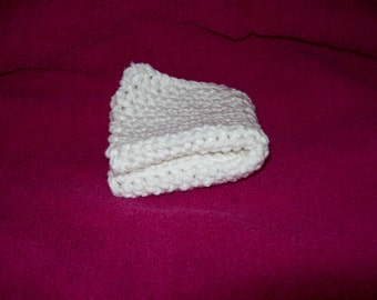 White Cotton Dishcloth , Washcloth, 8 Inch Square