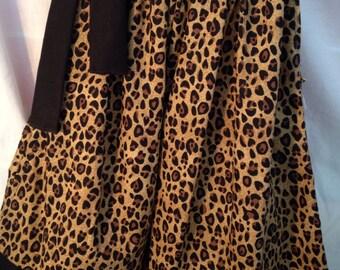 Custom Boutique handmade Leopard / Cheetah Pillowcase Dress