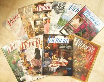 Victoria Magazine 1992 Ten Issues Vintage Magazines Christmas Holiday Ideas