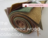 9x12 Wool Felt Sheets - The Weathered Wood Collection - 8 Sheets of Felt