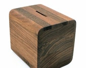 Gentleman's Coin Bank in black walnut - Great 5th Anniversary Gift For Him.