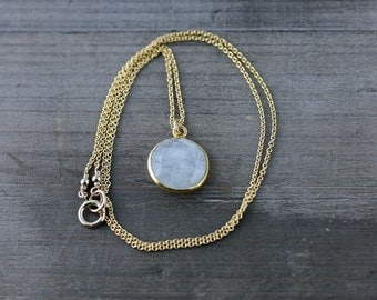 Moonstone Necklace on 14k Gold Fill