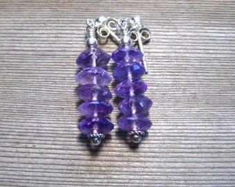 Amethyst Post Earrings, Sterling Silver, Purple Gemstone Stud Earrings, February Birthstone, Amethyst Jewelry