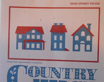 Regency Mills Country STENCIL lot 7 Antique Village - houses