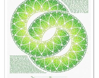 Ketubah: Rings of Life I