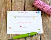 Peace and Love Fill In The Blank Thank You Notes / Kids Thank You Notes Fill In The Blank Peace and Love Design / Peace Thank You Notes