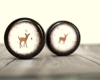 Deer Pill Boxes - Set  0f  2 - Wedding Ring Box