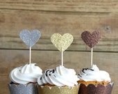 Gold, Silver and Bronze Glitter Cupcake Wrappers, other colors available
