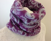 Gaiters-Neckwarmer-Cowl Scarf-Gaiter-Fleece Neck Warmer-Chunky Scarf -Ski Mask-Purple and Gray Winter Scarf -Sweetnola