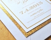 Glitter Save-the-Date Announcement Card (Mallory Collection) - SAMPLE