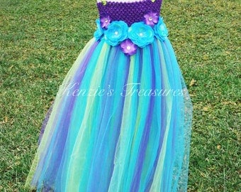 """The """"Aaliyah"""" Elegance Dress ~ Empire Waist Tutu Dress and Matching Hair Clip - Size 2T to Girls Size 6"""