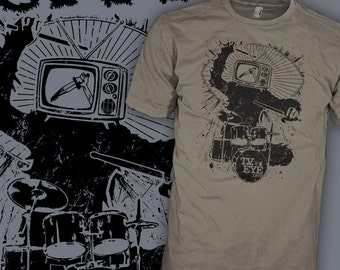 The STOOGES Shirt - Iggy Pop Shirt - Punk Rock Ape - Gorilla Monkey Drummer T-Shirt