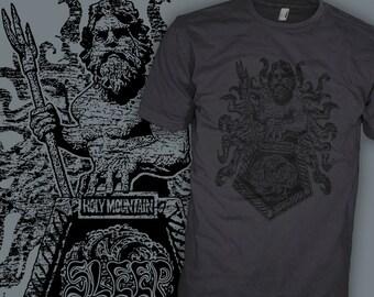 SLEEP Band Shirt - Holy Mountain Shirt - Black Sabbath style Stoner Doom Rock - Poseidon God Neptune T-Shirt