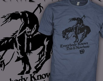 Neil Young and Crazy Horse T-Shirt - End of The Trail - Down By The River